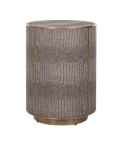 7531 - End table Classio 45Ø Vegan Leather