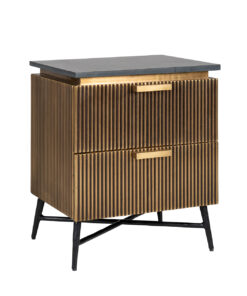 7572 - Bedside Cabinet Ironville 2-drawers