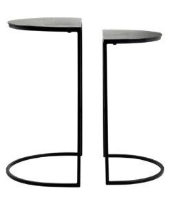 825075 - End table Bolder set of 2 aluminium black