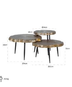 9910 - Coffee table Buloke set of 3