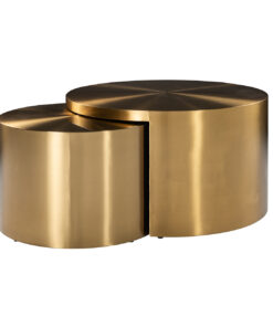 9913 - Coffee table Big & Rich set of 2 brushed gold