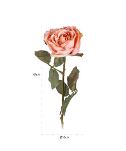 -FL-0017 - Flower Rose Light-Pink (12 pieces)