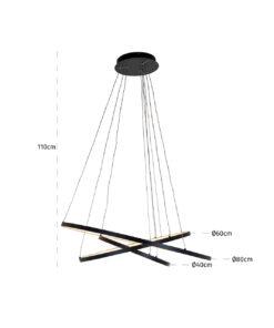 -HL-0123 - Hanging lamp Amira black