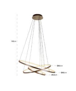 -HL-0124 - Hanging lamp Amira gold