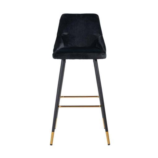 S4476 FR BLACK VELVET - Bar stool Imani Black Velvet