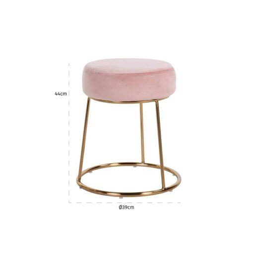 S4477 PINK VELVET - Chair Rory Pink Velvet / gold