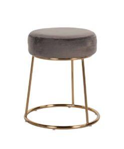 S4477 STONE VELVET - Chair Rory Stone Velvet / gold