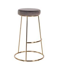 S4478 STONE VELVET - Bar stool Brandy Stone Velvet / gold