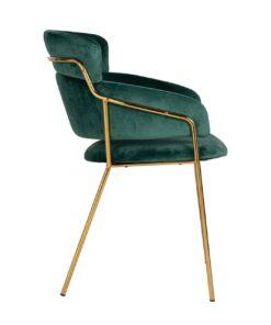 S4480 FR GREEN VELVET - Chair Angelica Green velvet / gold frame Fire Retardant