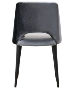 S4482 ANTRACIET - Chair Tabitha Genova Antraciet / Emerald Dark Grey