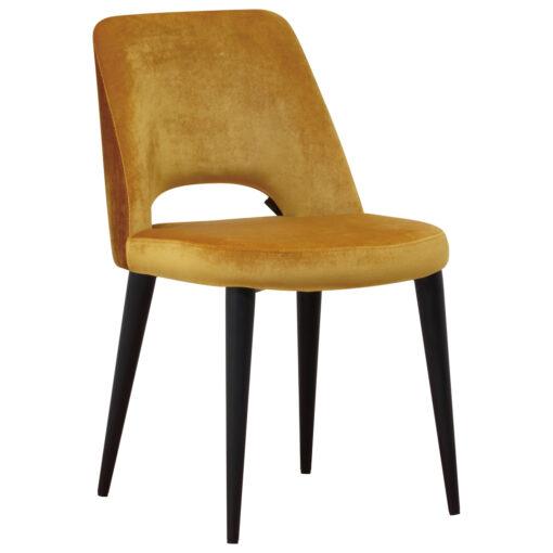 S4482 OCHRE - Chair Tabitha Genova Ochre / Emerald Ochre