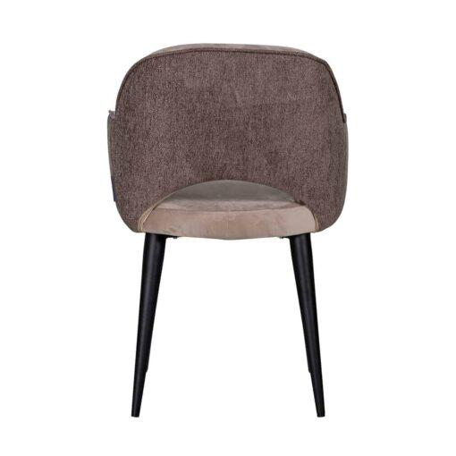 S4483 KHAKI - Chair Giovanna with armrest Quartz Khaki / Alaska Stone
