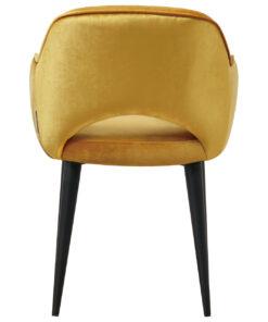 S4483 OCHRE - Chair Giovanna with armrest Genova Ochre / Emerald Ochre