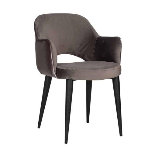 S4483 STONE - Chair Giovanna with armrest Quartz Stone / Emerald Stone