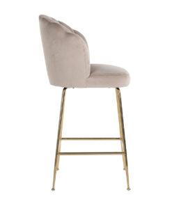 S4485 KHAKI VELVET - Bar stool Pippa Khaki velvet / gold