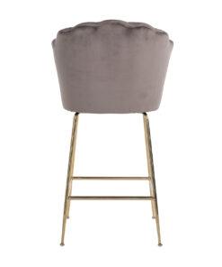 S4485 STONE VELVET - Bar stool Pippa Stone velvet / gold