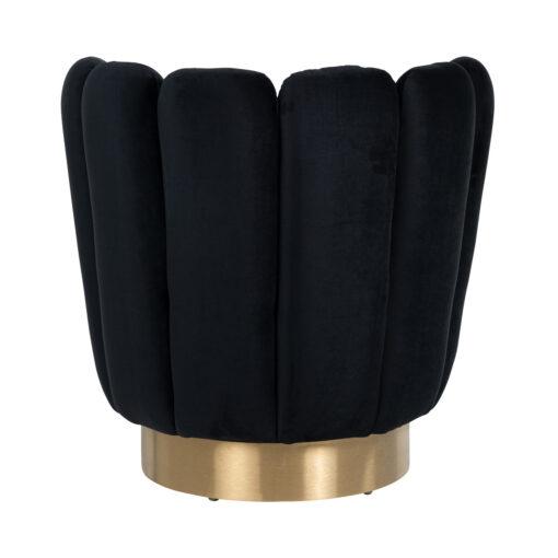 S4487 BLACK VELVET - Easy chair  Mayfair Black velvet / Brushed gold