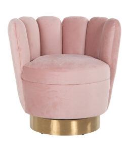S4487 PINK VELVET - Easy chair  Mayfair Pink velvet / gold