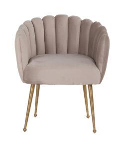 S4488 KHAKI VELVET - Chair Farah Khaki velvet / Brushed gold