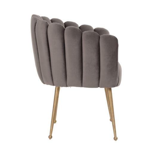 S4488 STONE VELVET - Chair Farah Stone velvet / Brushed gold