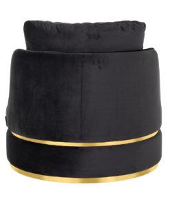 S4491 ANTRACIET VELVET - Easy Chair Kylie Antraciet velvet /  gold