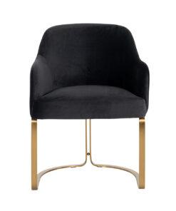 S4492 ANTRACIET VELVET - Chair Hadley Antraciet velvet / Brushed gold