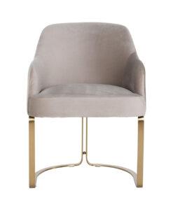 S4492 KHAKI VELVET - Chair Hadley Khaki velvet / Brushed gold