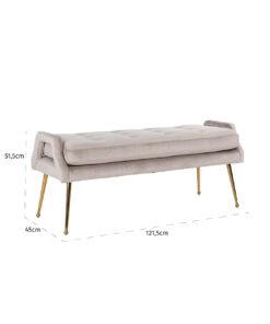 S4493 KHAKI VELVET - Sofa Rebel Khaki Velvet / gold