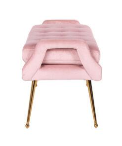S4493 PINK VELVET - Sofa Rebel Pink Velvet / gold