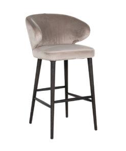 S4496 KHAKI VELVET - Bar stool Indigo Khaki velvet
