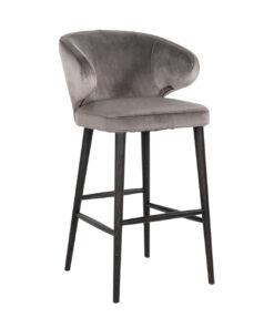 S4496 STONE VELVET - Bar stool Indigo Stone velvet