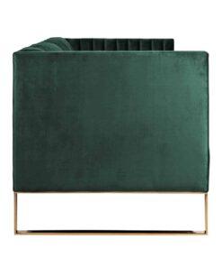 S5111 GREEN VELVET - Sofa Contessa 3-seats Green Velvet / gold