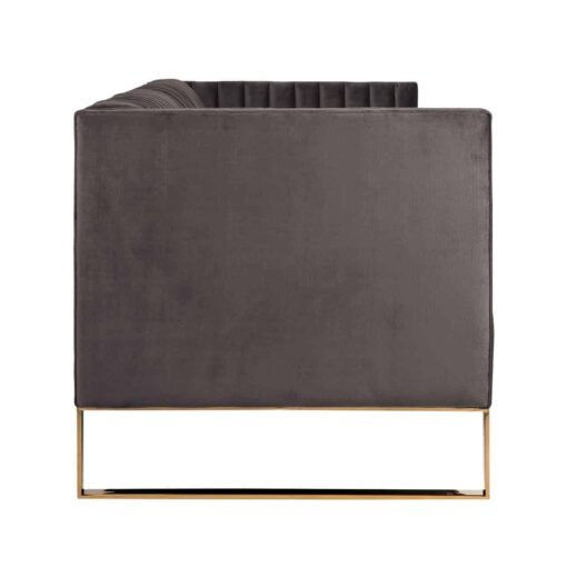 S5111 STONE VELVET - Sofa Contessa 3-seats Stone Velvet / gold