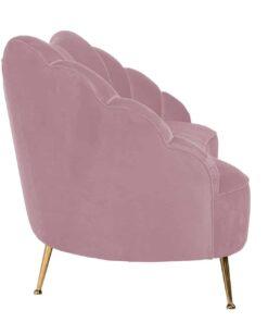 S5120 PINK VELVET - Sofa Cosette 3-seats Pink Velvet / gold