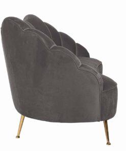 S5120 STONE VELVET - Sofa Cosette 3-seats Stone Velvet / gold