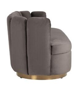 S5121 STONE VELVET - Sofa Camden Stone velvet / Brushed gold
