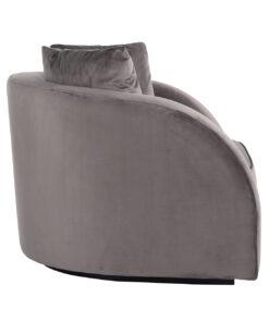 S5123 STONE VELVET - Easy chair Darwin with 2 pillows Stone Velvet