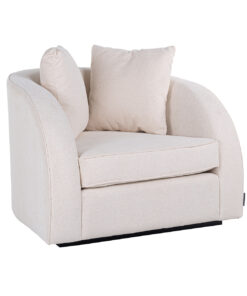 S5123 WHITE/GOLD - Easy chair Darwin with 2 pillows White/Gold