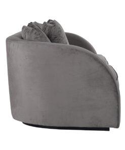 S5124 STONE VELVET - Sofa Darwin 3-seats with 6 pillows Stone Velvet