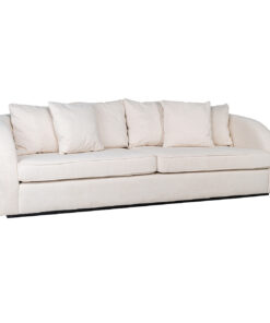 S5124 WHITE/GOLD - Sofa Darwin 3-seats with 6 pillows White/Gold