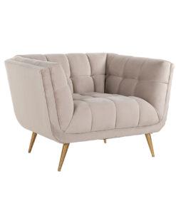 S5125 KHAKI VELVET - Easy Chair Huxley Khaki velvet / Brushed gold