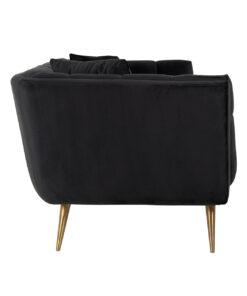 S5126 ANTRACIET VELVET - Sofa Huxley Antraciet velvet / Brushed gold