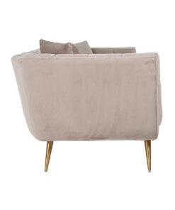 S5126 KHAKI VELVET - Sofa Huxley Khaki velvet / Brushed gold
