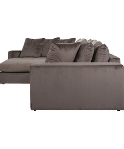 S5127 STONE VELVET - Sofa Juniper 3-seats + Lounge left/right Stone Velvet