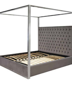 S6000 FR STONE VELVET - Bed Victoria 180x200 excl. Mattress Fire Retardant