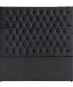 S6003 BLACK VELVET - Headboard Lowell 180x180 Black velvet / gold